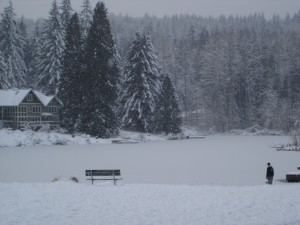 Lake Marcel in Winter Snow